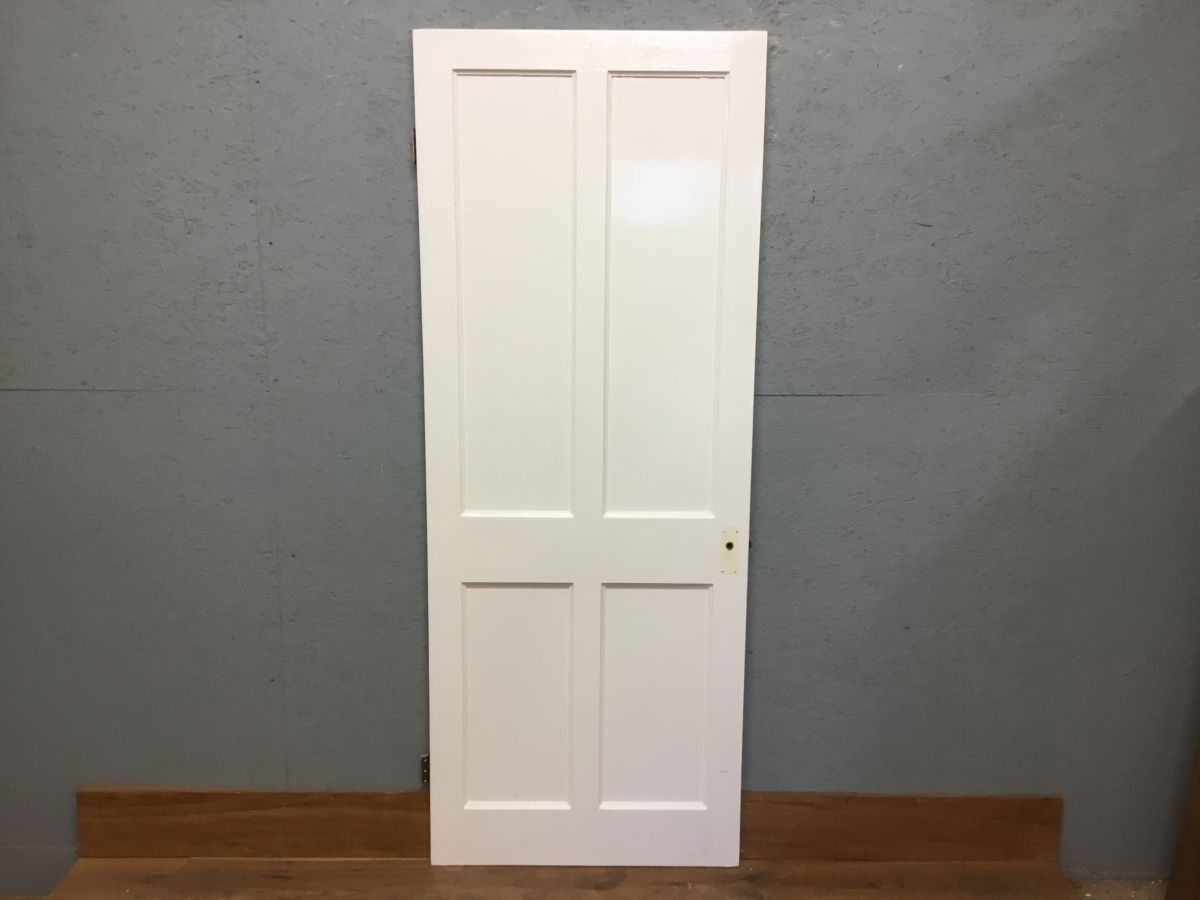 Beaded Reclaimed White Painted 4 Panel Door