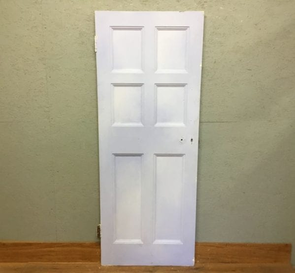 Reclaimed Half Lilac Painted 6 Panel Door