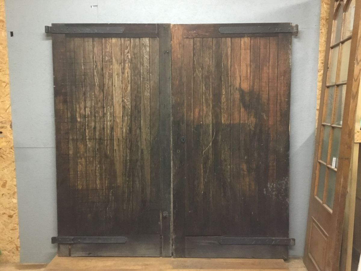 Reclaimed Large Garage Door Pair