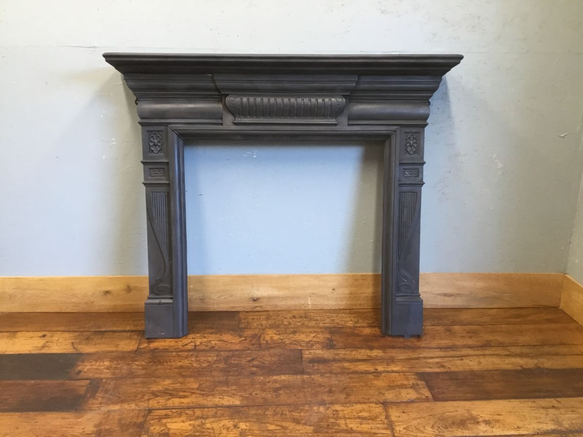 Simplistic Detail Cast Iron Fire Surround