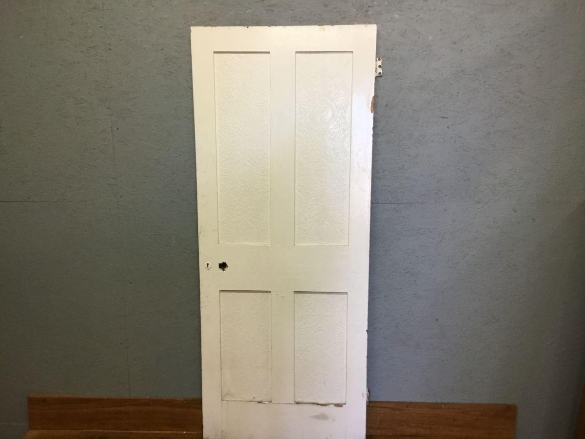 4 Panel Reclaimed White Painted Internal Door