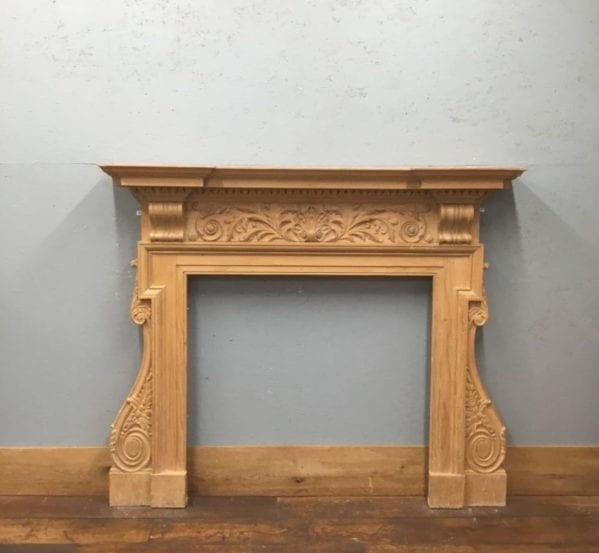 Carved Wooden Fire Surround