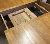 Large Oak Extendable Dinner Table