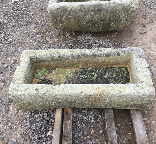 Reclaimed Narrow Cornish Granite Trough