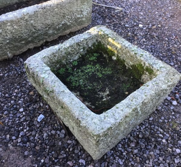 Small Square Cornish Granite Trough