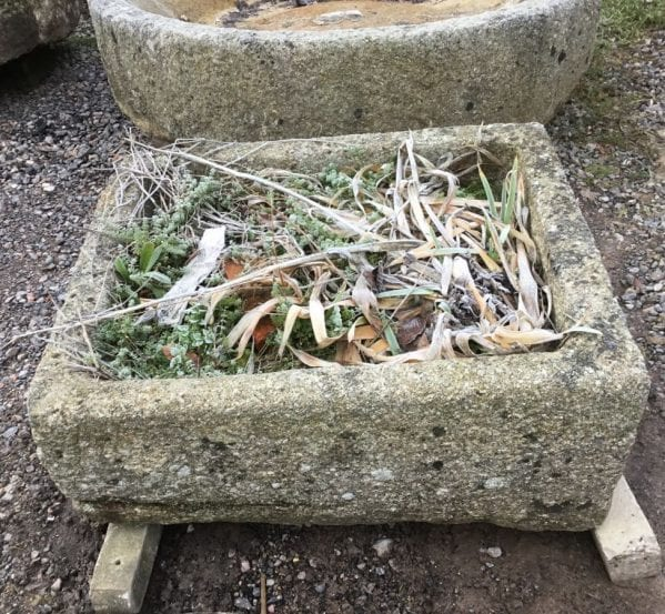 Reclaimed Angled Cornish Granite Trough