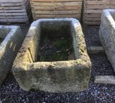 Rectangular Reclaimed Cornish Granite Trough