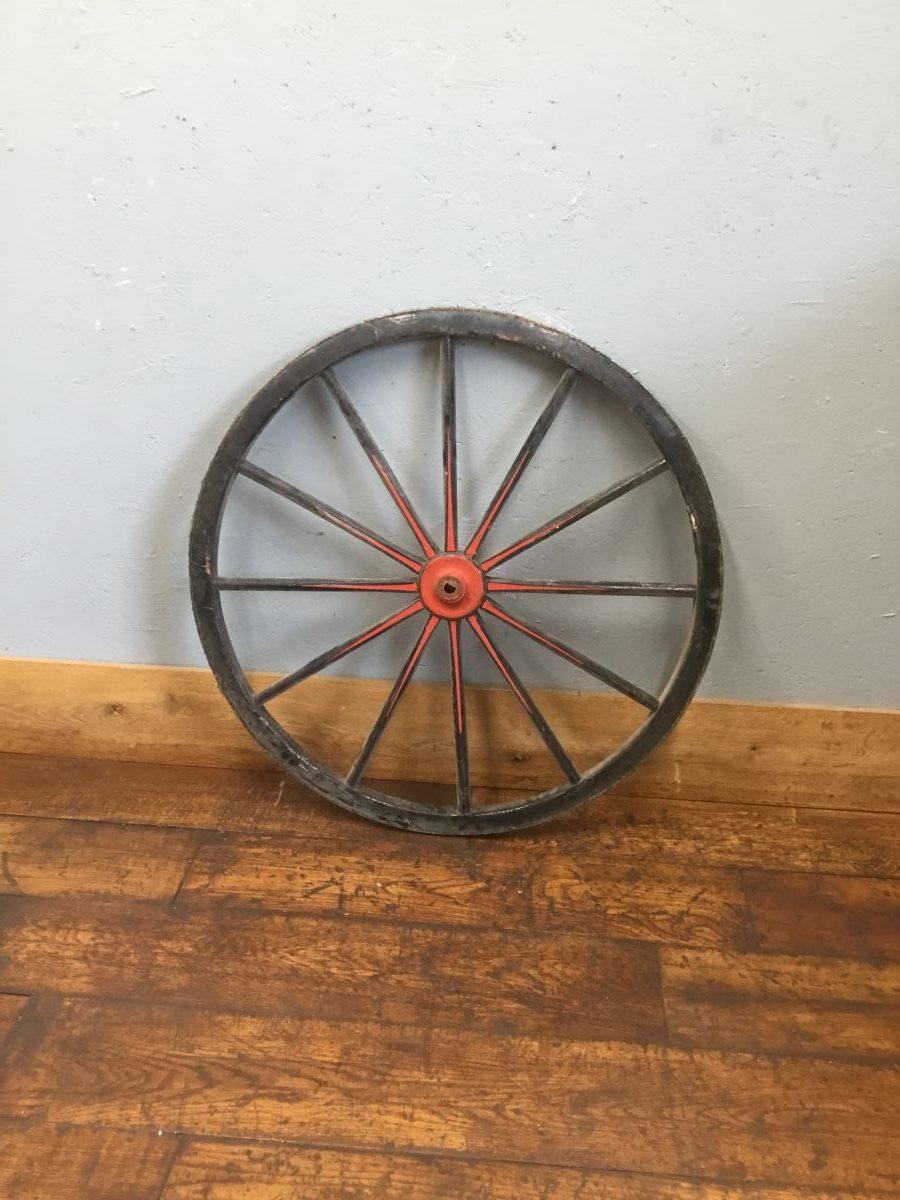 Black & Red Garden Feature Wheel