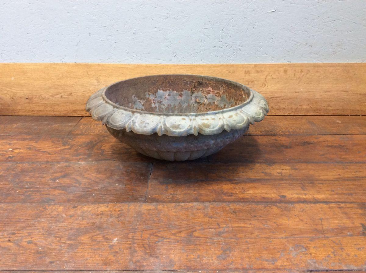 Decorative Iron Floral Plant Pot