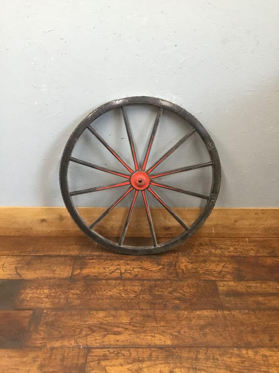 Wooden Black Wheel Red Detail
