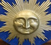 Large Wall Mounted Metal Sun & Face