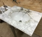 Bracket Reclaimed Marble Sink