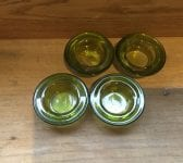 Green Glass Tealight Holders