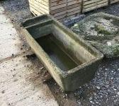 Reclaimed Concrete Partitioned Trough