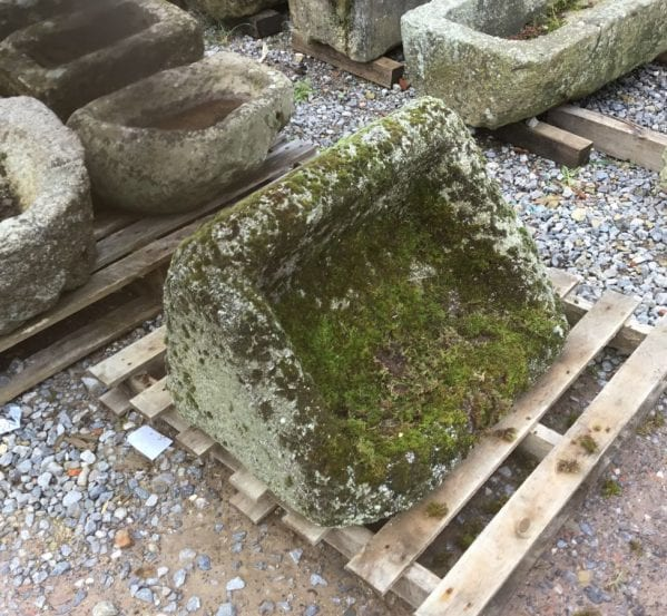 Triangular Reclaimed Stone Trough
