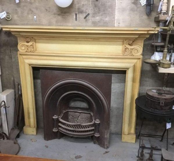 Ornate Cornered Wooden Fire Surround