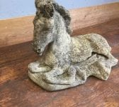 Reconstituted Stone Laying Horse Statue