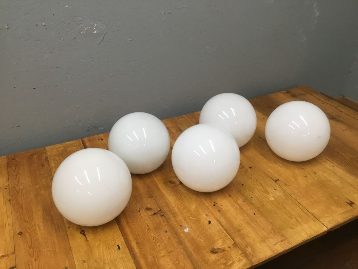 White Glass Sphere Shades