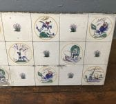 Carter Poole Pottery Sporting Tile by Edward Bawden