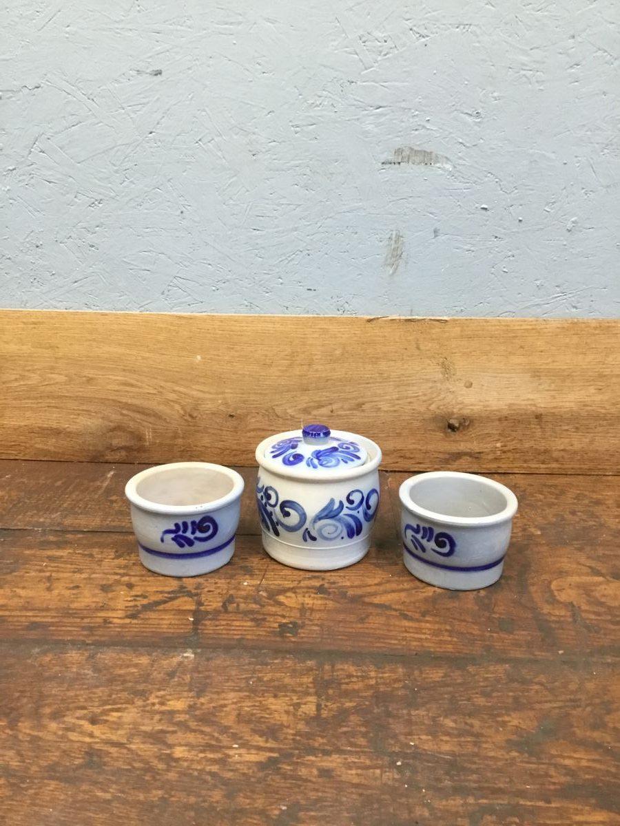 Blue Pottery Set