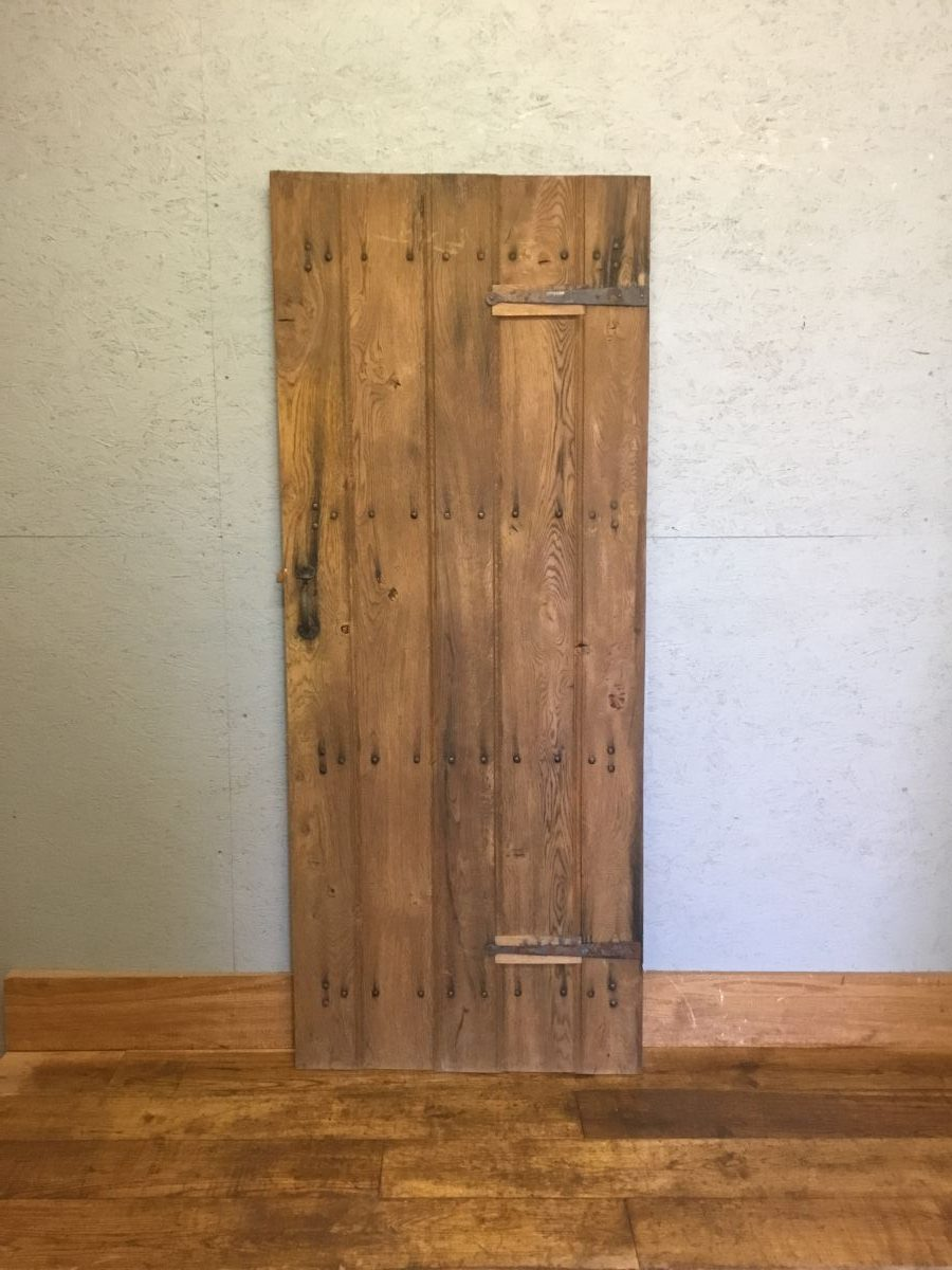 Studded Oak Ledge & Brace Door