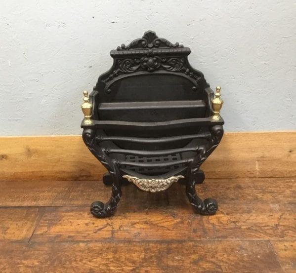 Brass Finial Regency Style Fire Basket