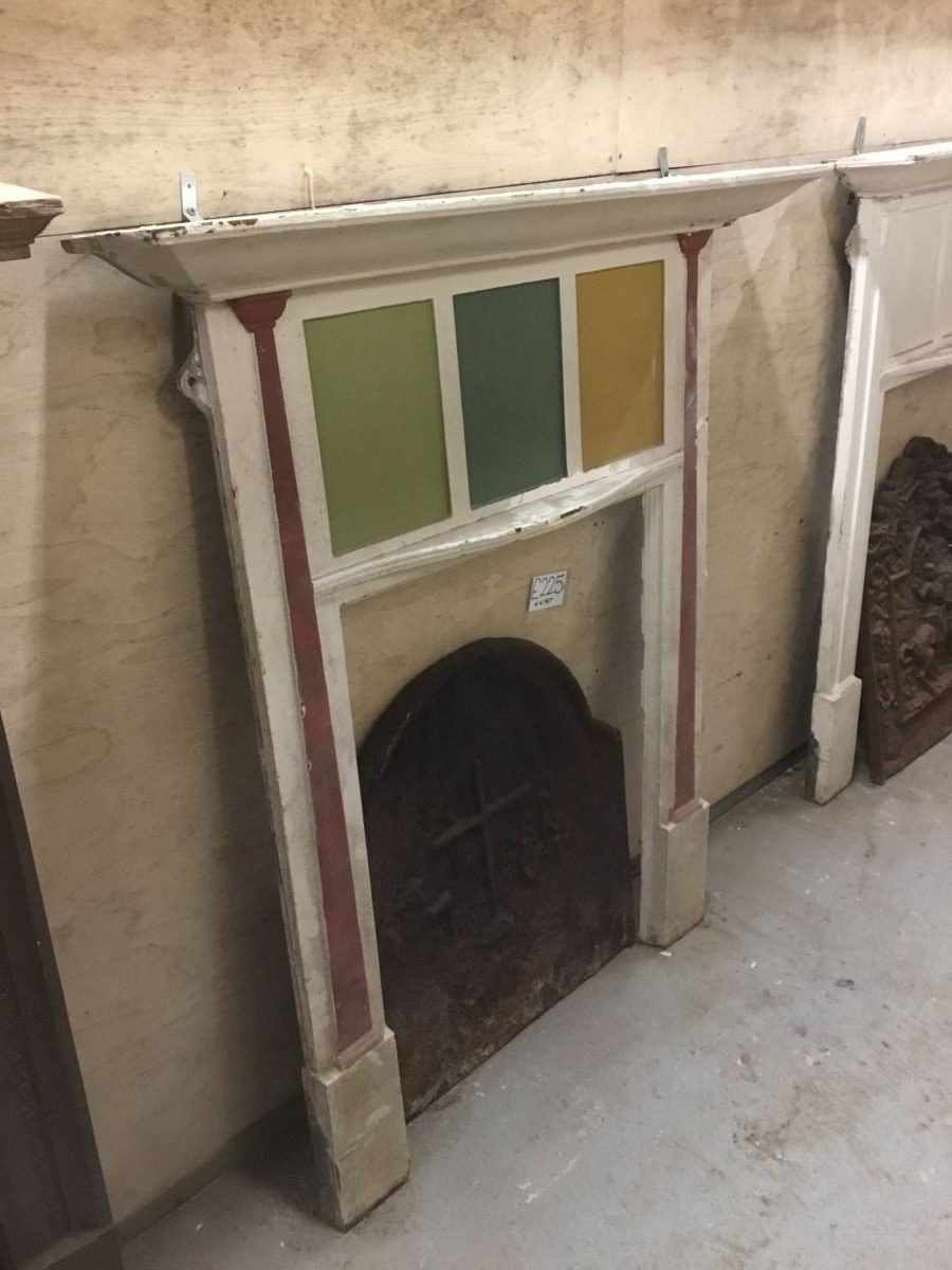 Coloured Panel Cast Iron Fire Surround