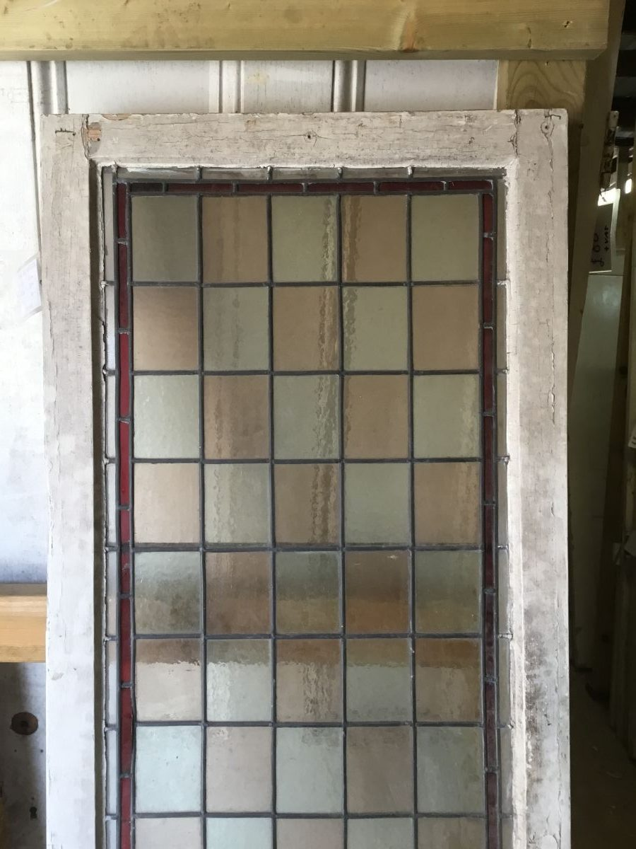 A Large Stained Glass Panel Authentic Reclamation
