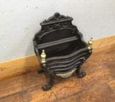 Brass Finial Regency Style Fire Basket