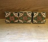 Green & Brown Diamond Detail Tiles
