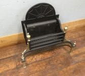 Large Brass Detail Fire Basket