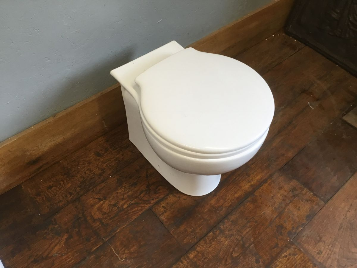 Rounded Base White Toilet & Seat