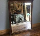 Dark Wood Wall Mounted Mirror
