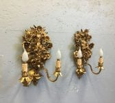 Intricate Floral Double Armed Sconce Lights