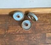 Painted Blue Cast Iron Wheels
