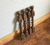 Dark Wood Spiral Spindles