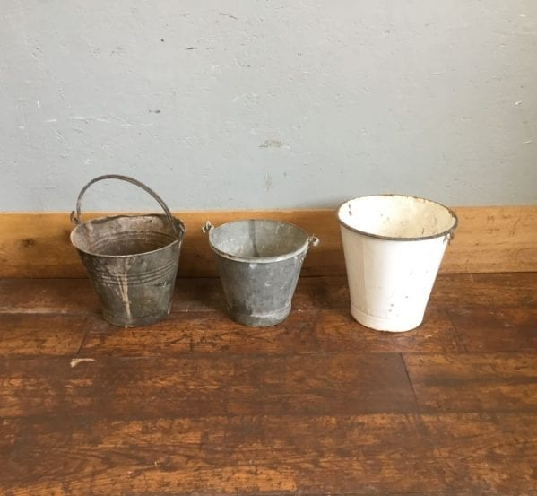 Tin & Enamel Buckets