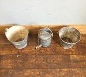 Galvanised Tin Bucket & Can