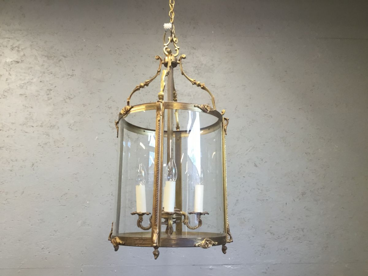 Round Glass & Brass Intricate Detailling