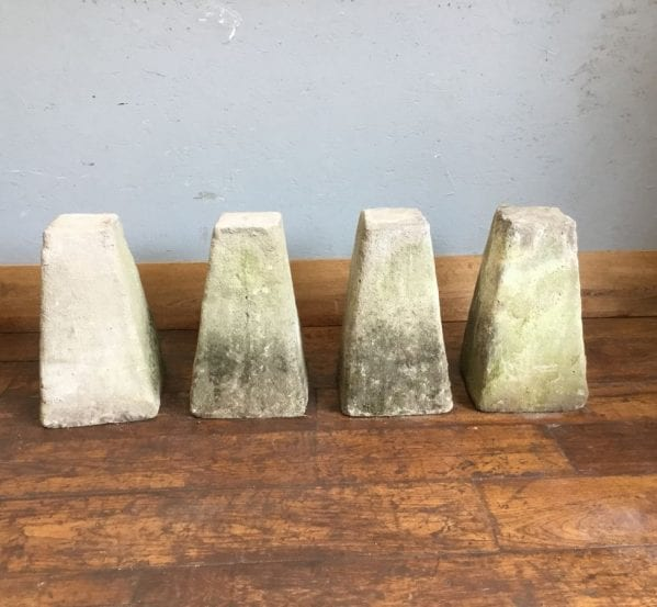 Four Reclaimed Staddle Stone Bases