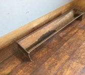 Reclaimed Triangular Metal Trough