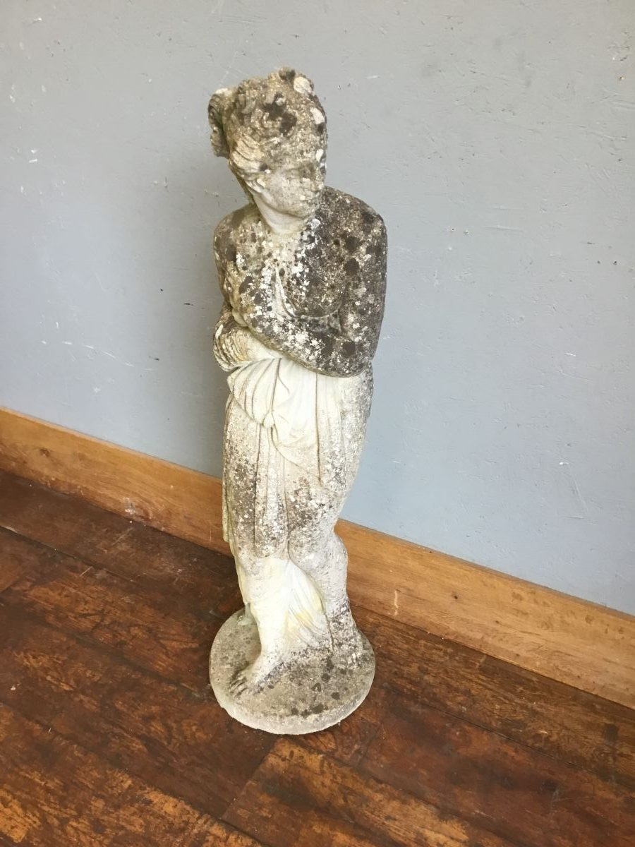 Reclaimed Glancing Woman Statue