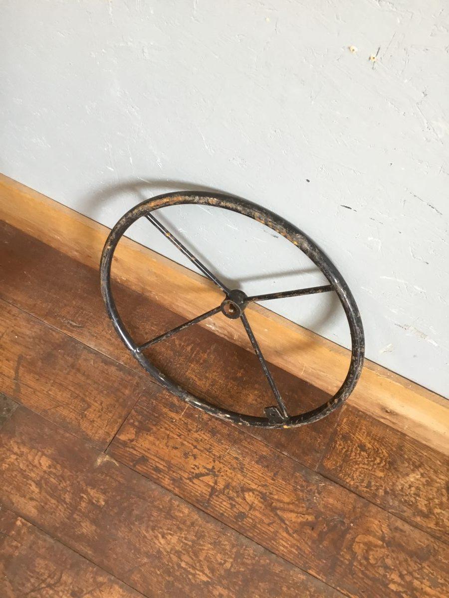 Large Metal Steering Wheel