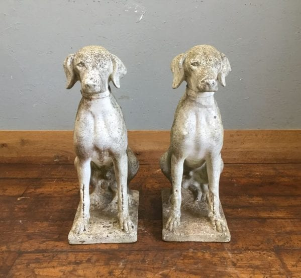 Stone Hunting Entrance Dog Pair