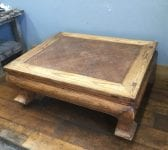 Reclaimed Woven Hessian Covered Table
