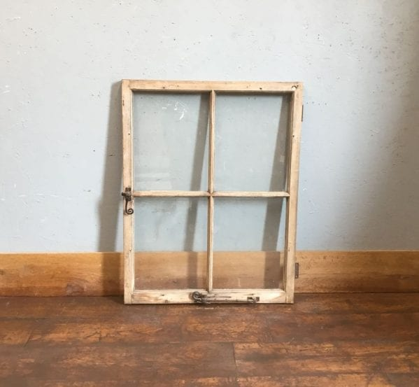 Single Wooden Four Panel Window
