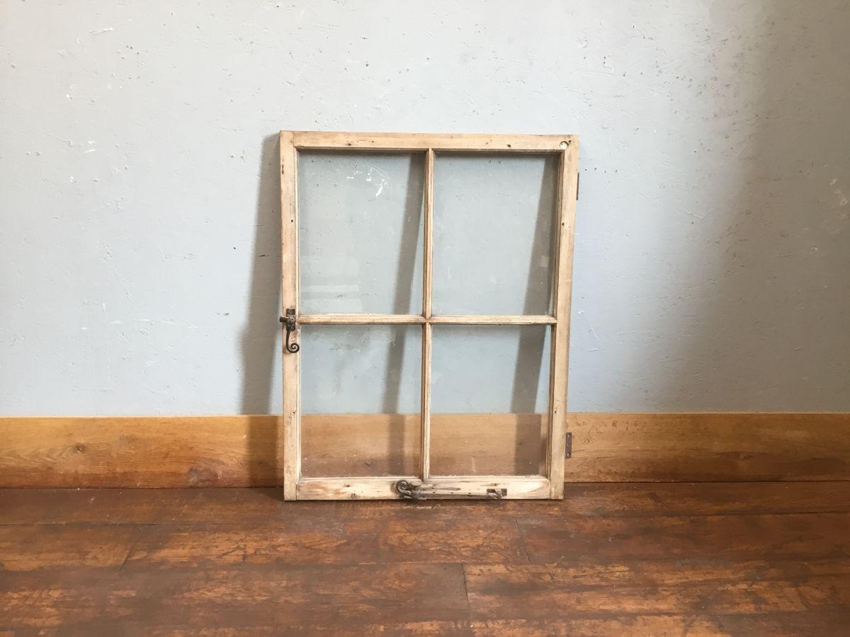 Single Wooden Four Panel Window
