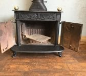 Large Reclaimed Cast Iron Log Burner