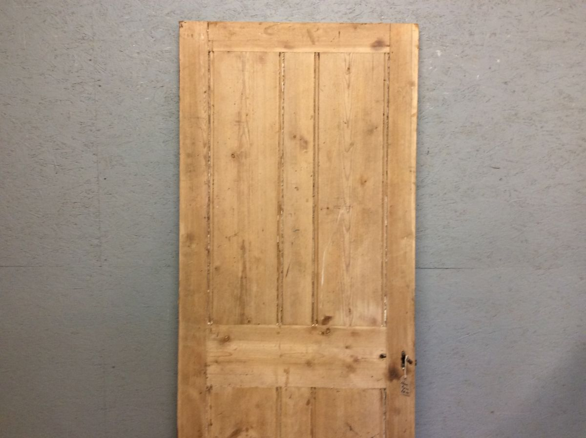 Old Smooth Stripped 4 Panelled Door