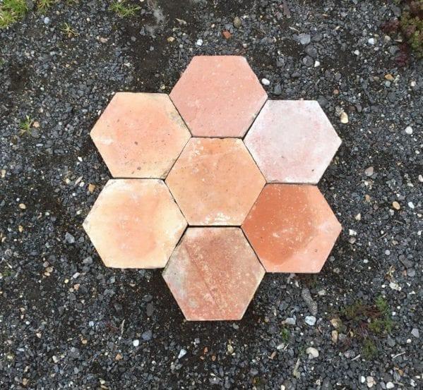 """8 3/4"""" Hexagonal French Floor Tiles"""